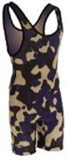 Matman Funky Camo Wrestling Singlet -Purple/Black/Vegas - Womens and Girls