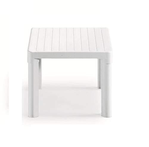 Altigasi Tip Table basse blanche en résine, pour extérieur, dimensions 47 x 47 x 38 H cm, fabriquée en Italie