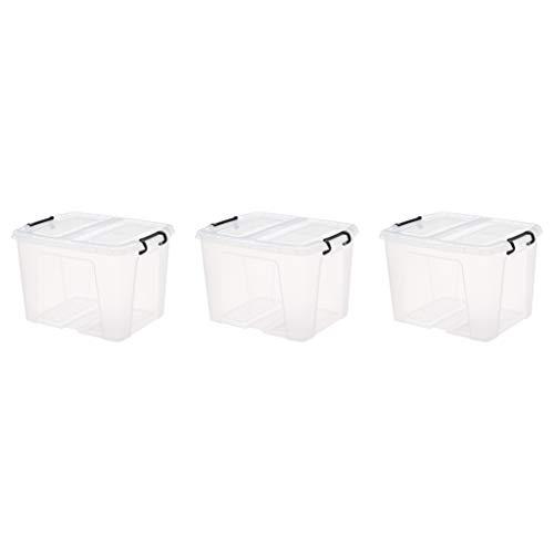AmazonBasics – Caja de almacenaje SmartStore, 40l, con...