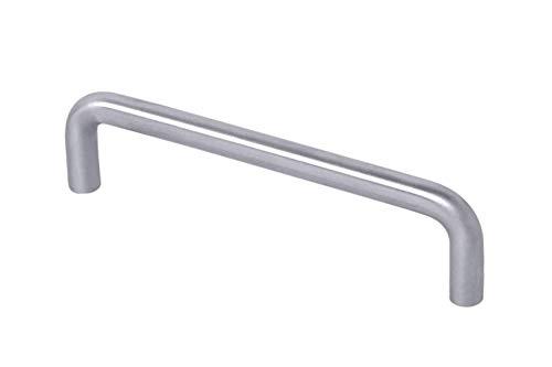 Gedotec Armario de cocina arco de cocina de acero inoxidable - 96 mm para puertas de armario - GEOS | mango de cajón cepillado mate con tornillos - 1 pieza