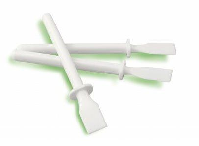Lot de 20 école enfant Classe 11 cm en plastique Blanc Spatule à glaçage bâtons de colle PVA