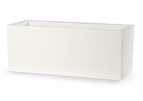 Teraplast Schio Cassa 60 cm Fiorirera, Bianco