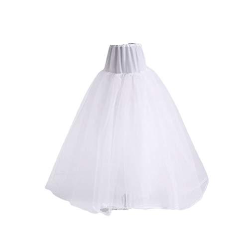 PHILSP3-Schicht Hard Net Soft Support ohne Reifen Brautkleid Flauschiger Petticoat Brauthochzeitsfutter Rock Damen Damen Slip Röcke Weiß