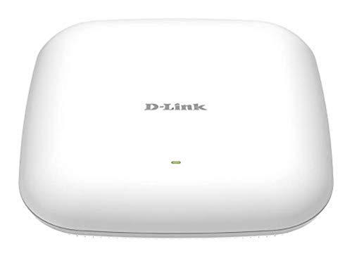 D-Link DAP-2680 - Punto de Acceso PoE WiFi AC1750 Wave2 MU-MIMO Dual Band para Interior (802.11ac hasta 1750 Mbps), Puerto Gigabit 100/1000 Mbps, WPA2 Enterprise, Radius, partición de WLAN, 802.3at