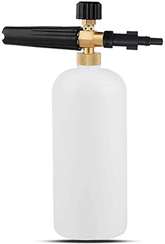 Snow Foam Lance Compatible with Bosch Aquatak,Black & Decker Pressure Washer,Car Washer Sprayer Soap Nozzle Foam Cannon, Adjustable Sprayer Soap Dispenser Bottle 1L