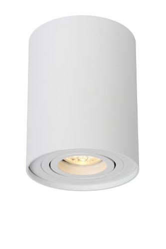 Lucide TUBE - Spot Plafond - Ø 9,6 cm - GU10 - Blanc