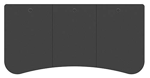 Monoprice Vorgebohrter 3-teiliger Sitz-Ständer für den Schreibtisch, 160 cm breit, Schwarz | motorisierte und manuelle Kurbel höhenverstellbar
