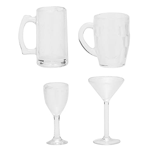 Muebles De Casa De Muñecas Escala 1 12, Taza De Vino De Casa De Muñecas Lindo Duradero Para Decoración Del Hogar(Establecer copas de vino)