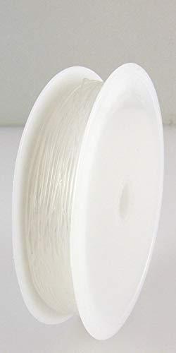 10m elastischer Nylonfaden transparent 0,6mm Schmuckschnur -622