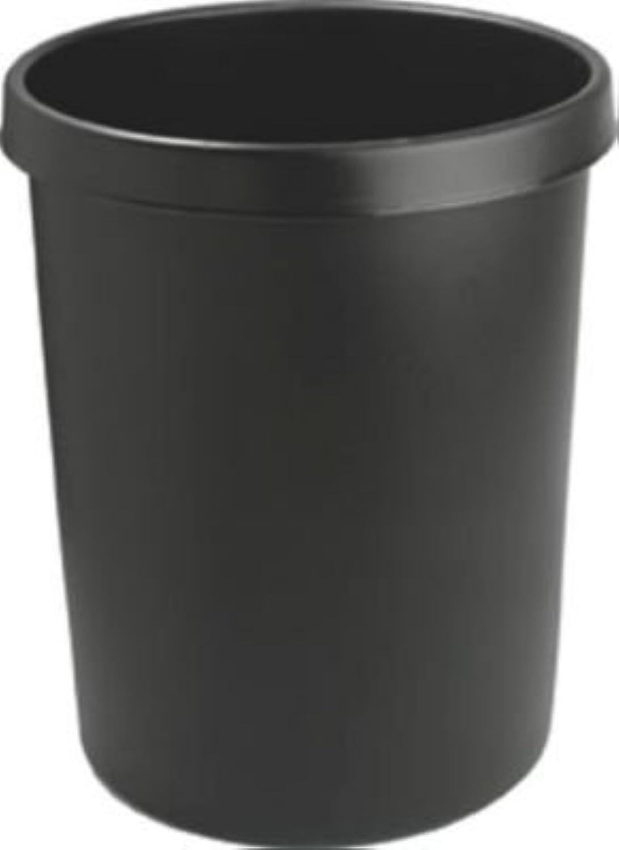 Helit Kunststoff-Papierkorb - Inhalt 45 l, Höhe 480 mm, VE 2 Stk - schwarz, VE 2 Stk - Abfallkorb Kunststoffabfallsammler Papiereimer Papierkorb B00XWJQHY4 | Wirtschaft