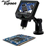 Parts & Accessories 1-600X 3.6Mp Usb Digital Microscope Portable G600 Continuous Magnifier With 4.3Inch Hd Oled Display For Pcb Motherboard Repair - (Ships From: China)