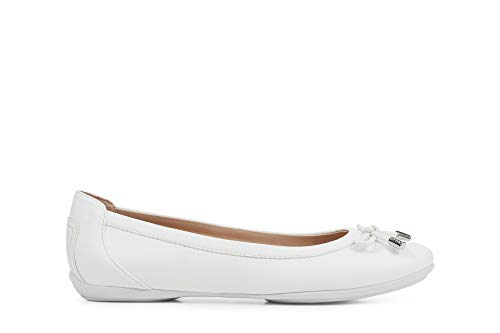 Geox Womens D Charlene B Ballet Flat, Optic White