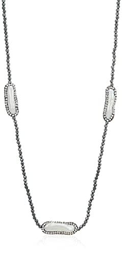 [ピュアパール] pure pearl 淡水パール&ヘマタイトネックレス PPY6055N