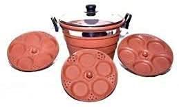 Juego de vajilla de arcilla con arcilla para té, arcilla, taza Chai, arcilla, Dahi Handi, arcilla de terracota, cocina especial Idli para buenos beneficios para la salud (marrón, estándar)