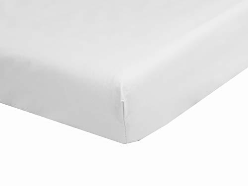 Drap Housse 2x90x200 Blanc pour lit électrique 100% Coton confectionné en France