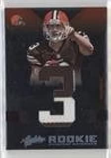 Brandon Weeden #10/25 (Football Card) 2012 Absolute - Rookie Premiere Materials - Jumbo Jersey Number Prime #205