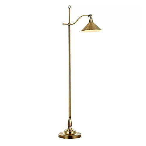 JSJJAUA lámpara de Piso Lámpara de Cobre de Lujo Lámpara de pie Retro Americana Lámpara de Estar Creativa Ajustable Lámpara de pie de habitación / 110-220V Decoración hogareña