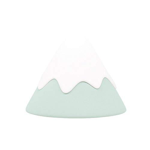 Snow Mountain Lamp Led Touch Silicona Luz Nocturna Con Lámpara De Alimentación Junto A La Cama Para Dormir-Verde Menta