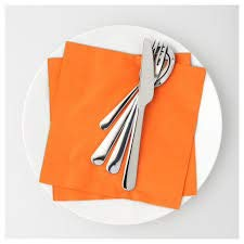 Ikea Papierserviette, Orange, 40 x 40 cm
