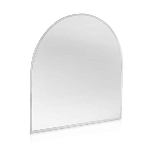 Kamin Funkenschutz Glas Bodenplatte Rundbogen 1200 mm x 1000 mm