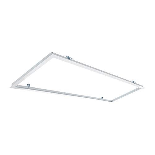 Marco Empotrable Paneles LED 120x30cm BlancoBlanco