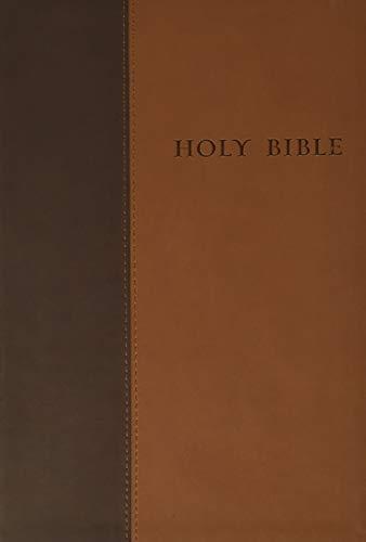 Premium Value Slimline Bible Large Print NLT, TuTone (LeatherLike, Brown/Tan)