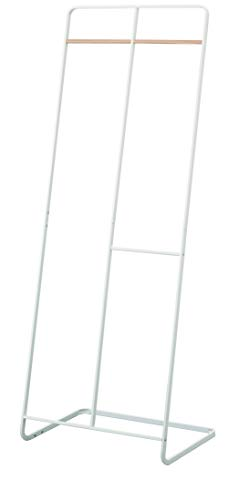 YAMAZAKI home Tower 2-Level Coat Rack, White
