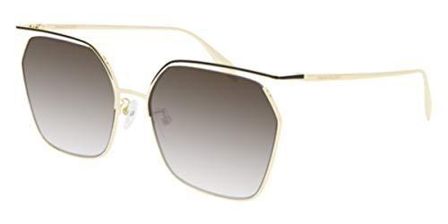 Alexander McQueen AM-0254-S 002 - Gafas de sol, color dorado, negro y gris y marrón