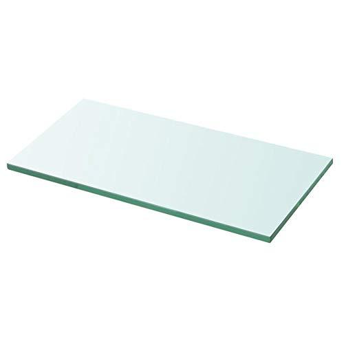 Wakects Glasablage Glasregal Regalboden Glas Transparent Glasboden Einlegeboden für Ihr Geschäft oder das Zuhause geeignet, Stabil Und Langlebig, Tragfähigkeit 15 kg, 30 cm x 12 cm, Stärke 8 mm