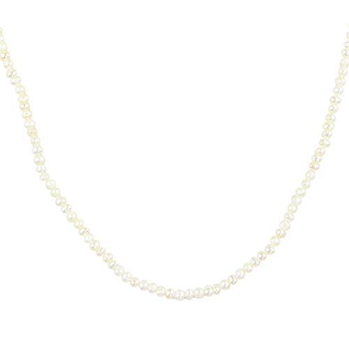 DUR Perlenkette | Süßwasserperle 2,5-3 mm | Verschluss 925 Silber | K2130 | 60 cm