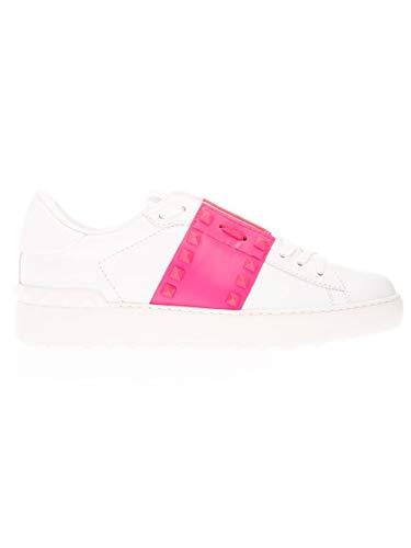 Valentino Luxury Fashion Garavani Damen TW2S0A01UTU42Z Weiss Leder Sneakers | Jahreszeit Permanent