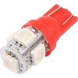 HC Lighting - Red LED T10 5050 SMD 12V 1W for Light Bulb for Car Dome Headboard, Reading, and Fixture Replacement (10/PK)