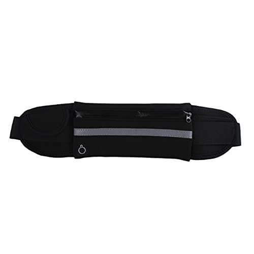 libelyef Cinturón de correr para mujeres y hombres, bolsa de cintura ajustable, bolsa impermeable para correr, para teléfono, llaves, botella de agua, tarjeta y dinero