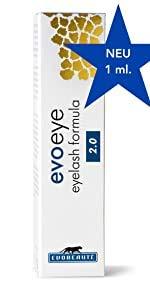 evoeye eyelash formula 2.0 - Wimpernwachstumsserum, 1er Pack (1 x 1 ml)