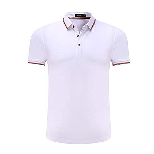 DamaiOpeningcs Chaleco de correr, Lucong Polo camiseta manga corta ropa de trabajo de media manga blanca_4XL
