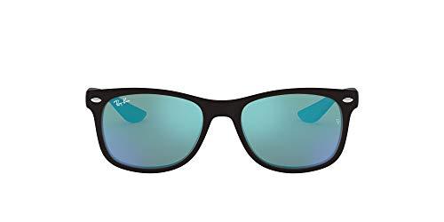 Ray-Ban Unisex Rj9052s Sonnenbrille, Schwarz (Gestell: Schwarz, Gläser: Blau Verspiegelt 100S55), Medium (Herstellergröße: 48)