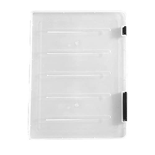 1pc Transparente Clasificación de archivos A4 carpeta portátil plástico A5 caja de almacenamiento de caja de almacenamiento carpeta de almacenamiento Inicio Caja de archivos de clasificación transpare