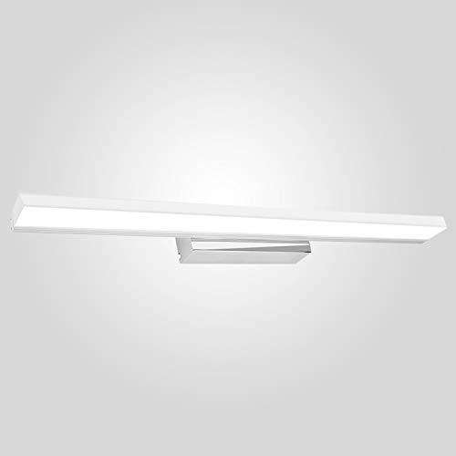 Aplique Espejo Baño 50CM, Infankey Espejo Baño Led 12W 220V 1300LM 4000K, Luz Blanca Neutra, IP44 Impermeable, para Espejo/Gabinete/Pared [Clase de Eficiencia Energética A+]