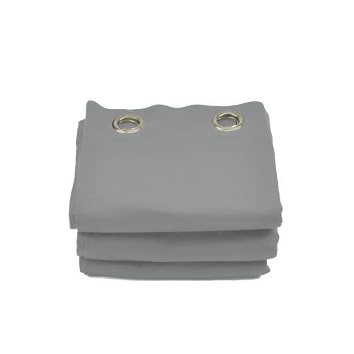 Acouspanel Cortina Acústica de Tejido Opaco Dimensiones 1,35x2,4m Algodón Ignífugo Afelpado a Las Dos Caras de 300gr. Color Gris