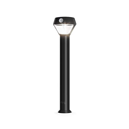 Ring Solar Pathlight -- Outdoor Motion-Sensor Security Light, Black (Ring Bridge required)