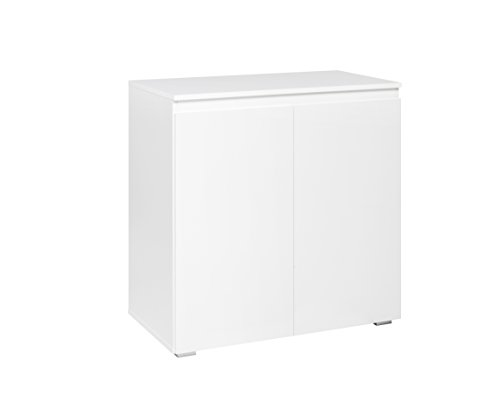 Commode (B/H/D: 80 x 80 x 40 cm) griploos design, wit mat