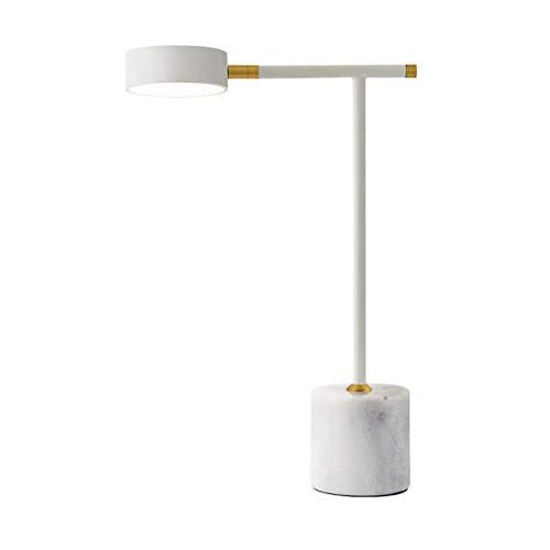HLL Lámparas novedosas, lámparas de noche y de mesa Lámpara de lectura pequeña nórdica Lámpara de lectura Escritorio de estudio Dormitorio Lámpara de noche decorativa posmoderna Lámpara LED,Blanco