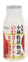 <br>小林牧場物語 のむヨーグルト余市りんご果汁入り 180g x10個セット 新札幌乳業