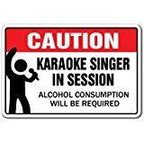 Karaoke Singer IN Session Letrero de Canciones música Canto Bar Noche Interior/Exterior 8 x 12