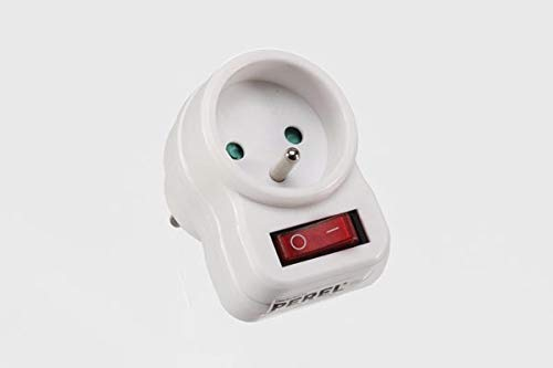 Adaptateur de prise avec interrupteur - 1 prise