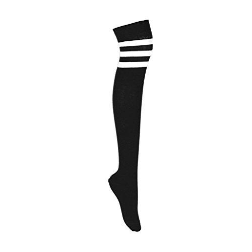 adam & eesa Damen Über Kniestrümpfe Argyle Cosplay Strümpfe Cheerleader Streifen Socken - EU 35-41