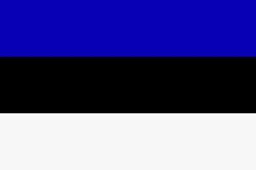U24 Aufkleber Estland Flagge Fahne 8 x 5 cm Autoaufkleber Sticker