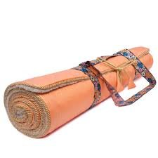 Holistic Silk Yogamatte orange