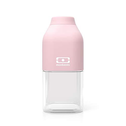 monbento - MB Positive S rosa Litchi Trinkflasche Kinder bpa frei - 0,33 L - Tritan Trinkflasche