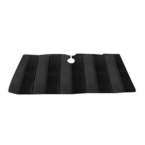 YANGQING QIAOMIN Frente De Parabrisas Shade Lightweight Aluminio Foil Acordeón Plegable Auto Sunshade Blocks Rays Sun Visor Coche Interior Protector (Color : Black 130x70cm)